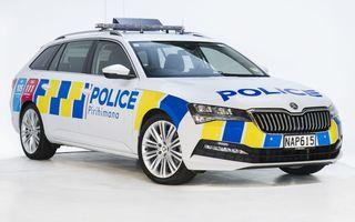 Skoda ajunge și în Noua Zeelandă. A fost livrat primul exemplar Superb Combi pentru poliția locală