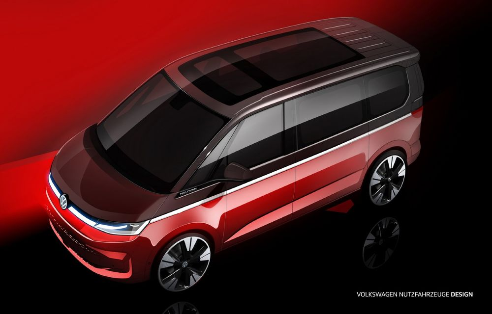 Volkswagen: Noul T7 Multivan debutează în luna iunie și va fi dezvoltat pe arhitectura MQB - Poza 1