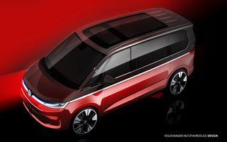 Volkswagen: Noul T7 Multivan debutează în luna iunie și va fi dezvoltat pe arhitectura MQB