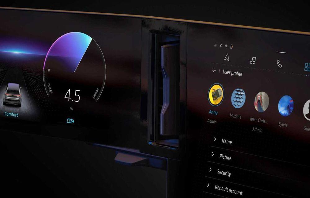 Primele imagini cu viitorul Renault Megane Electric: stopuri unite cu o bandă LED, ecran uriaș la interior - Poza 3