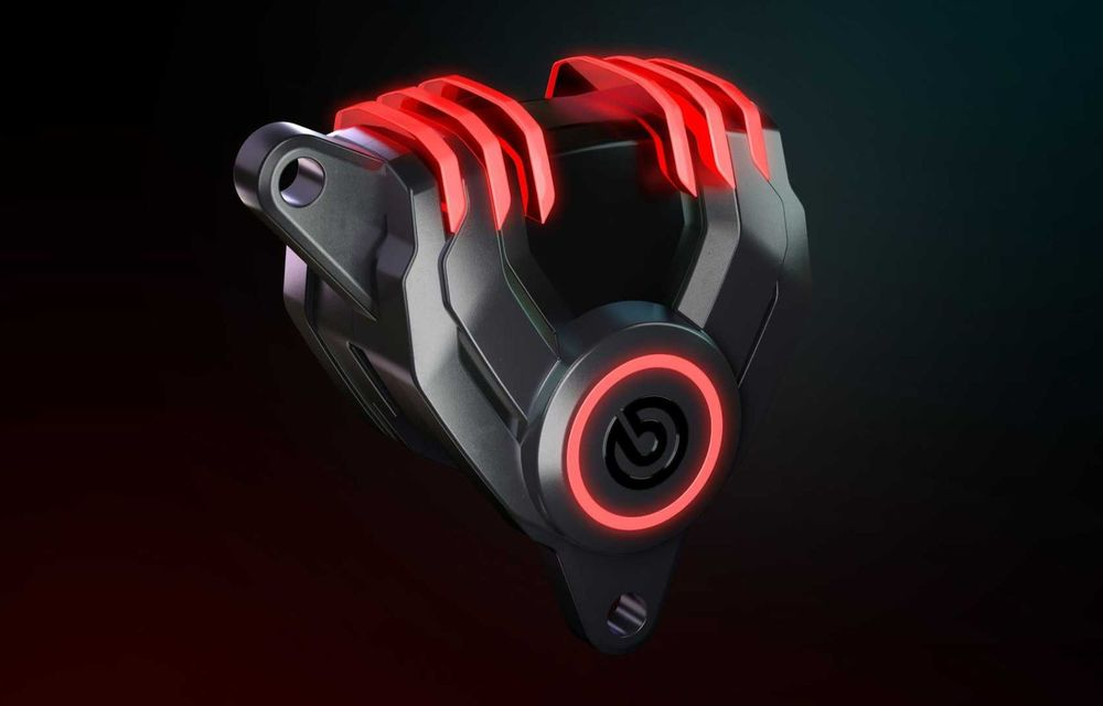 Brembo prezintă etrierele cu LED care te atenționează când trebuie să schimbi discurile sau plăcuțele - Poza 1