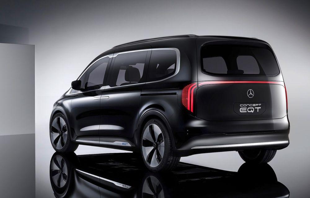 Conceptul Mercedes-Benz EQT a debutat oficial. Anunță lansarea unei autoutilitare urbane cu zero emisii - Poza 5