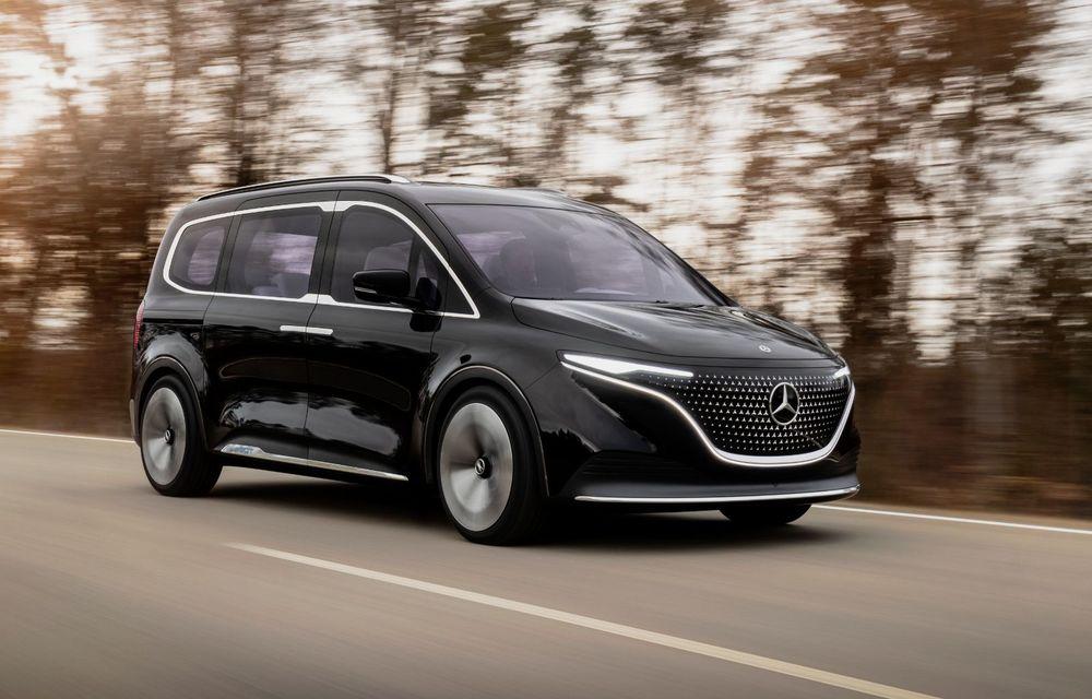 Conceptul Mercedes-Benz EQT a debutat oficial. Anunță lansarea unei autoutilitare urbane cu zero emisii - Poza 7
