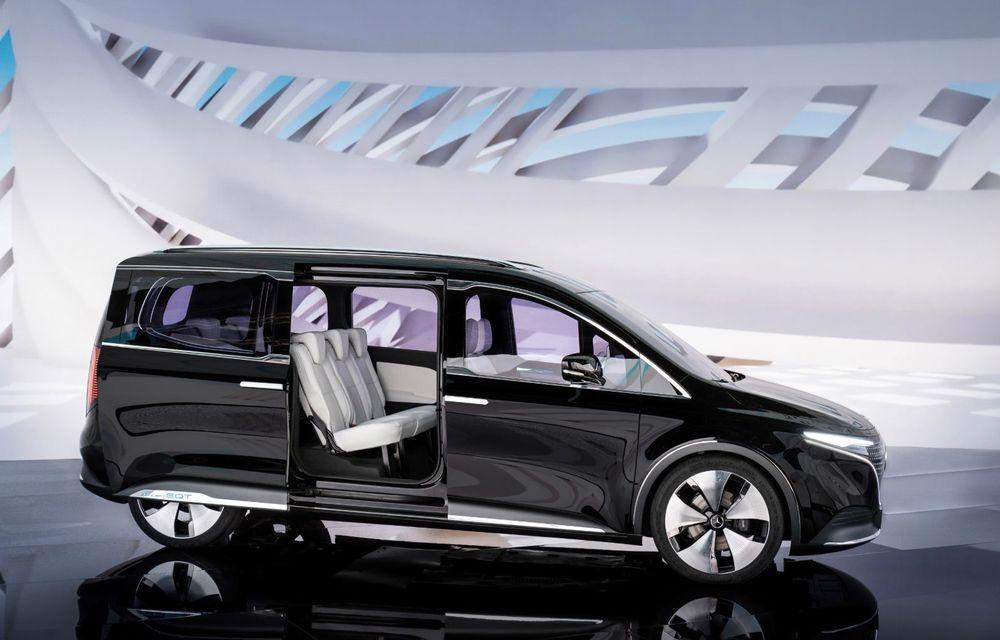 Conceptul Mercedes-Benz EQT a debutat oficial. Anunță lansarea unei autoutilitare urbane cu zero emisii - Poza 8