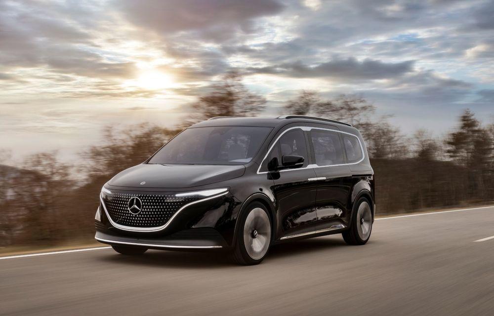 Conceptul Mercedes-Benz EQT a debutat oficial. Anunță lansarea unei autoutilitare urbane cu zero emisii - Poza 6