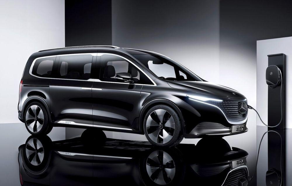 Conceptul Mercedes-Benz EQT a debutat oficial. Anunță lansarea unei autoutilitare urbane cu zero emisii - Poza 4