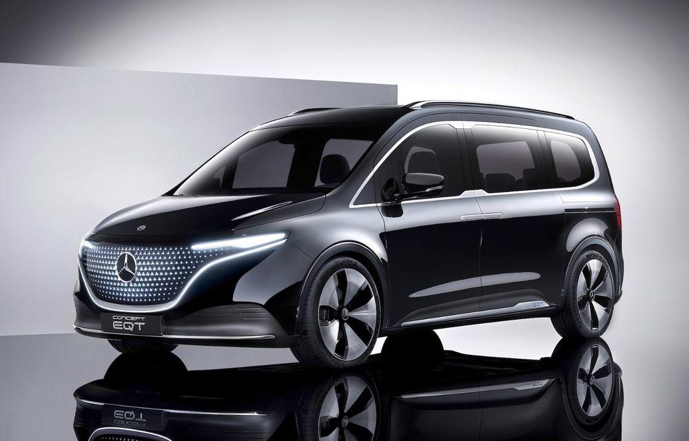 Conceptul Mercedes-Benz EQT a debutat oficial. Anunță lansarea unei autoutilitare urbane cu zero emisii - Poza 1
