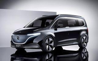 Conceptul Mercedes-Benz EQT a debutat oficial. Anunță lansarea unei autoutilitare urbane cu zero emisii
