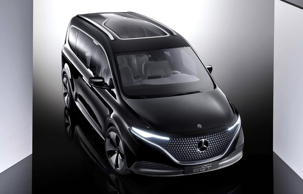 Conceptul Mercedes-Benz EQT a debutat oficial. Anunță lansarea unei autoutilitare urbane cu zero emisii - Poza 3