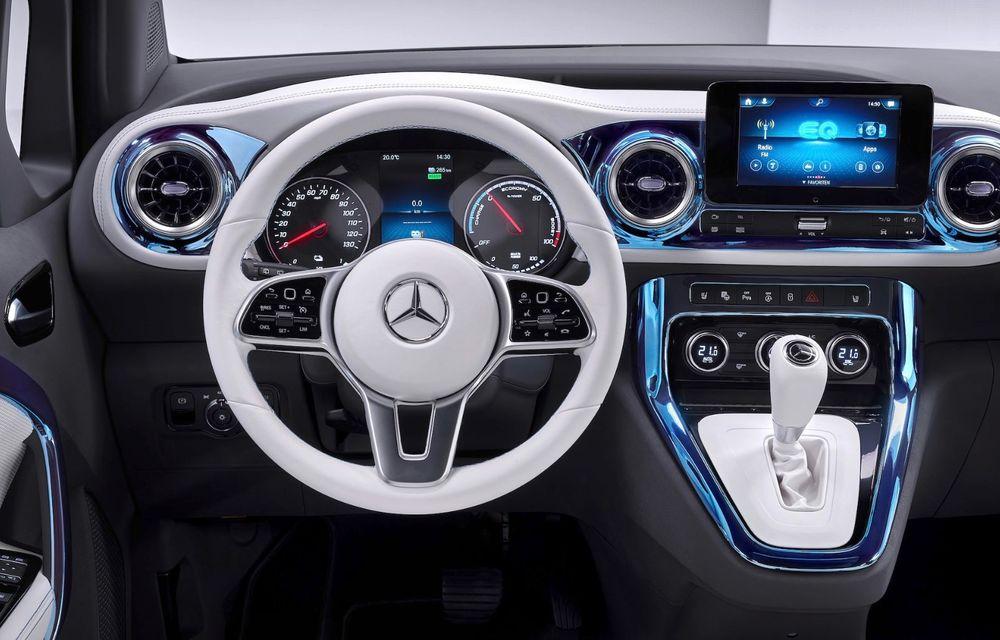 Conceptul Mercedes-Benz EQT a debutat oficial. Anunță lansarea unei autoutilitare urbane cu zero emisii - Poza 10