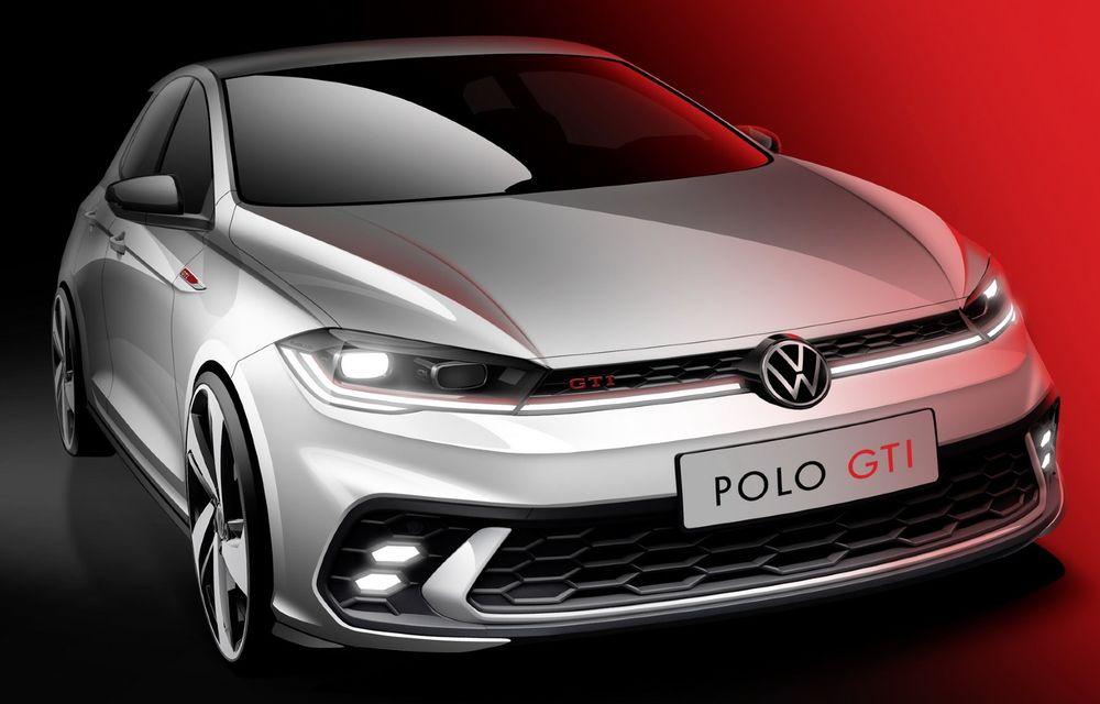 Prima schiță de design cu viitorul Volkswagen Polo GTI facelift. Debutează la finalul lunii iunie - Poza 1