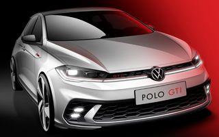 Prima schiță de design cu viitorul Volkswagen Polo GTI facelift. Debutează la finalul lunii iunie