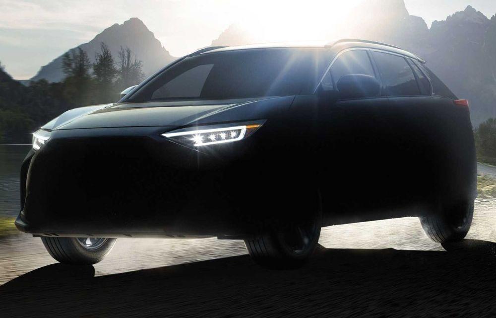 Subaru a ales denumirea Solterra pentru viitorul său SUV electric. Debutează pe piață în 2022 - Poza 1