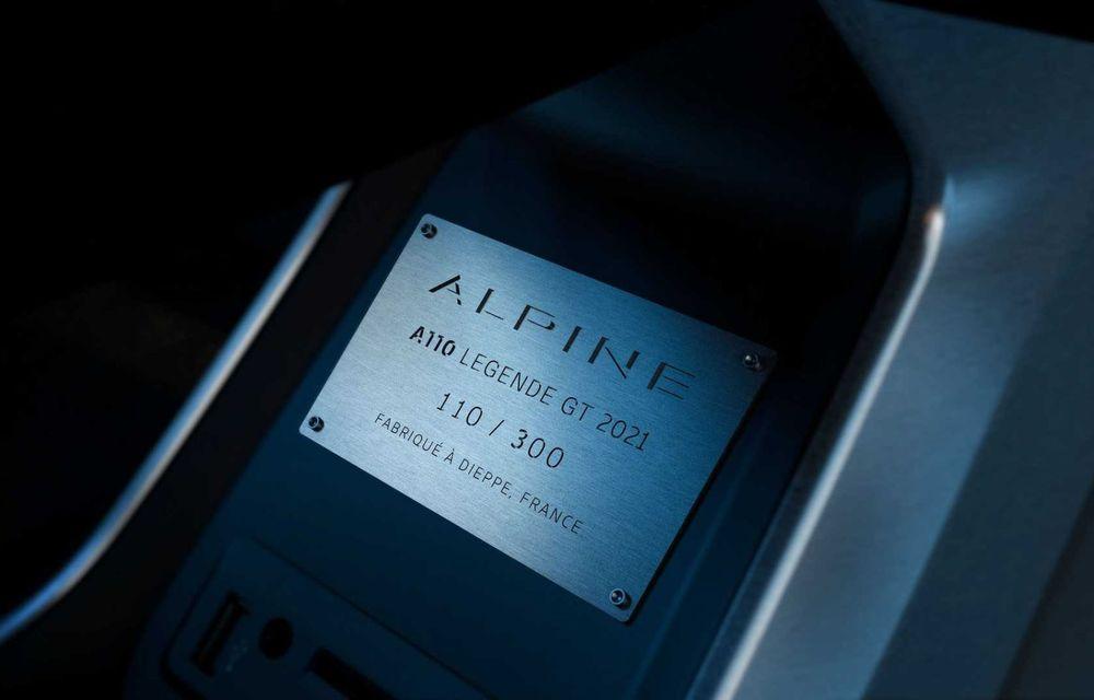 Ediția specială Alpine A110 Legende GT revine în 2021 cu 292 CP și producție limitată la 300 de exemplare - Poza 6
