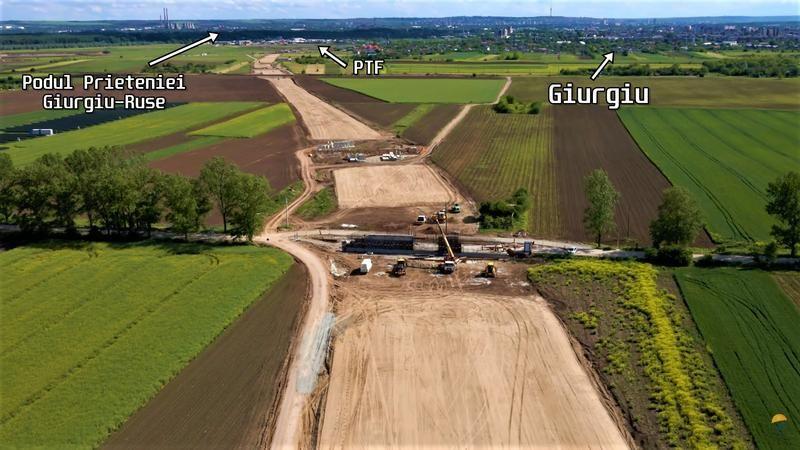 Drumul expres cu plăci de beton care ocolește Giurgiu și ajunge direct în vama cu Bulgaria, gata anul acesta - Poza 1