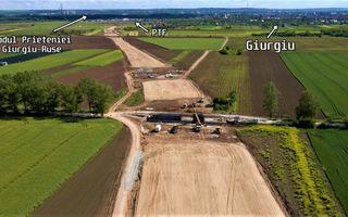 Drumul expres cu plăci de beton care ocolește Giurgiu și ajunge direct în vama cu Bulgaria, gata anul acesta
