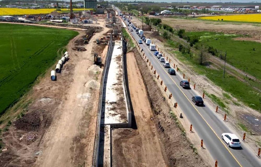 Stadiul celor trei giratorii suspendate care se construiesc pe Centura de Sud a Bucureștiului - Poza 1