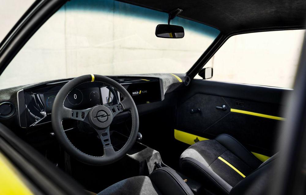 Opel Manta GSe ElektroMod: concept electric cu design retro, 200 km autonomie și transmisie manuală - Poza 7