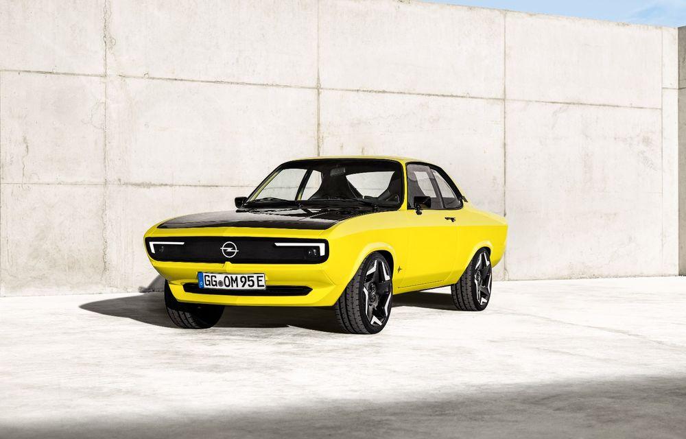 Opel Manta GSe ElektroMod: concept electric cu design retro, 200 km autonomie și transmisie manuală - Poza 1