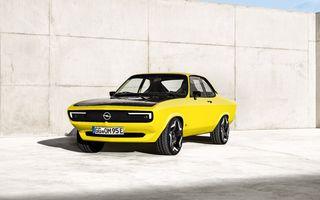 Opel Manta GSe ElektroMod: concept electric cu design retro, 200 km autonomie și transmisie manuală