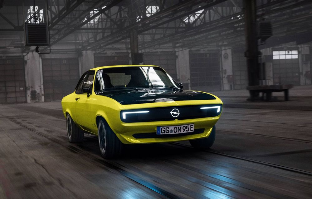Opel Manta GSe ElektroMod: concept electric cu design retro, 200 km autonomie și transmisie manuală - Poza 3