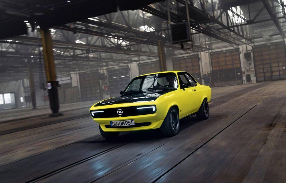 Opel Manta GSe ElektroMod: concept electric cu design retro, 200 km autonomie și transmisie manuală - Poza 2