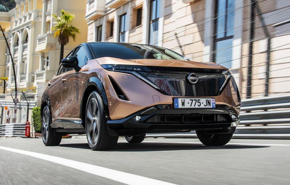 SUV-ul electric Nissan Ariya și-a făcut prima apariție publică pe circuitul stradal de la Monaco - Poza 1