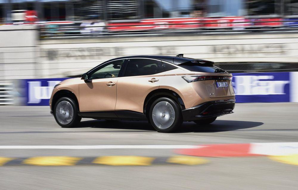 SUV-ul electric Nissan Ariya și-a făcut prima apariție publică pe circuitul stradal de la Monaco - Poza 6