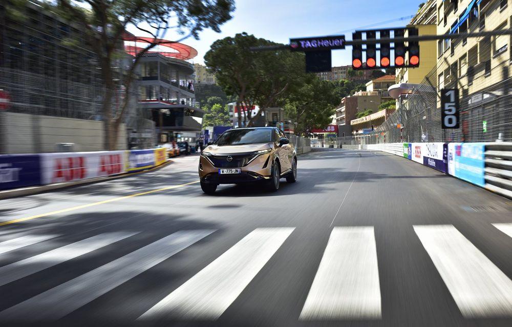 SUV-ul electric Nissan Ariya și-a făcut prima apariție publică pe circuitul stradal de la Monaco - Poza 3
