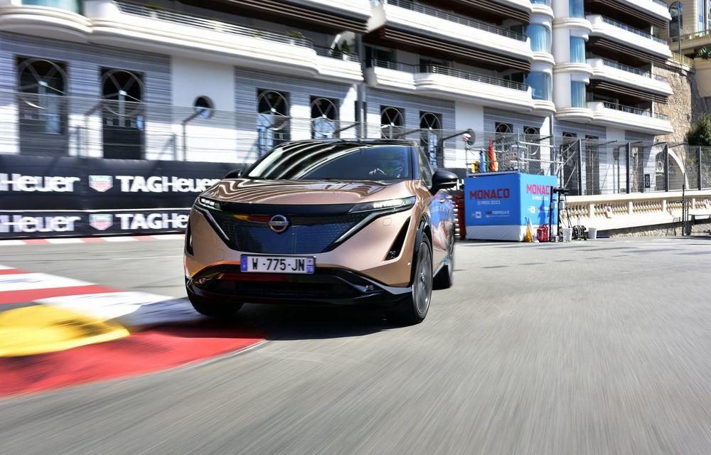SUV-ul electric Nissan Ariya și-a făcut prima apariție publică pe circuitul stradal de la Monaco - Poza 5