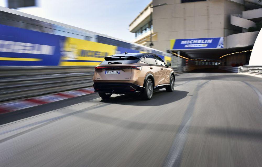 SUV-ul electric Nissan Ariya și-a făcut prima apariție publică pe circuitul stradal de la Monaco - Poza 4