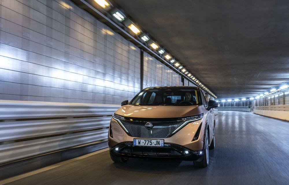SUV-ul electric Nissan Ariya și-a făcut prima apariție publică pe circuitul stradal de la Monaco - Poza 7