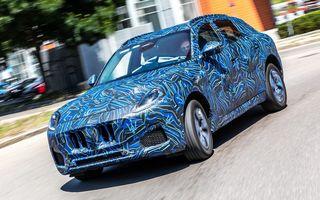 Maserati dezvăluie primele imagini sub camuflaj cu viitorul SUV Grecale