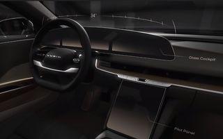 Sedanul electric Lucid Air va avea display curbat de 34 inch și ecran retractabil pentru climatizare