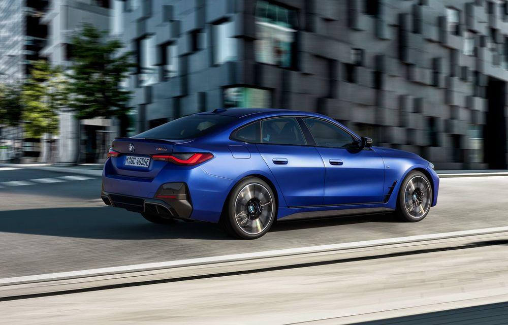 BMW a publicat toate detaliile despre electricul i4: versiune M50 cu 544 de cai putere - Poza 18