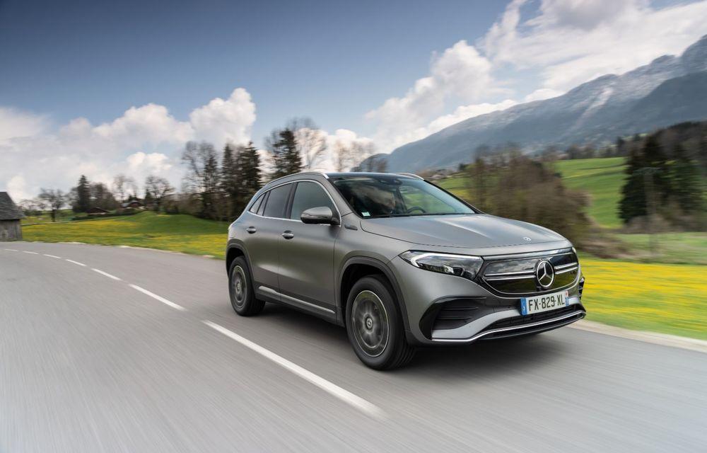 """Mașinile din """"Aventour la feminin"""" by Textar: Mercedes-Benz EQA, cel mai mic SUV electric al nemților, promite multă tehnologie - Poza 2"""