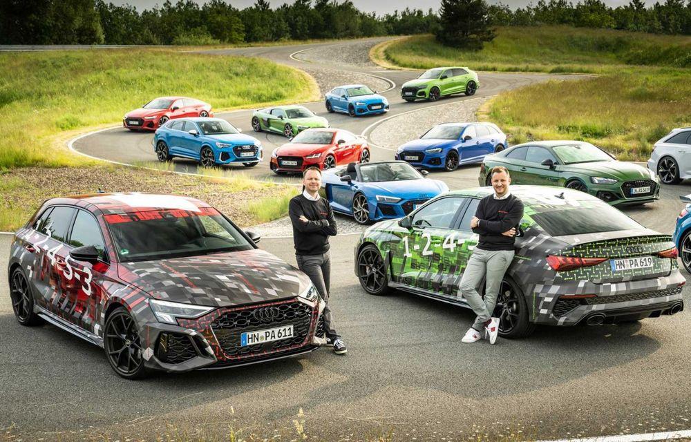 Primele imagini cu noua generație Audi RS3 sub camuflaj - Poza 1