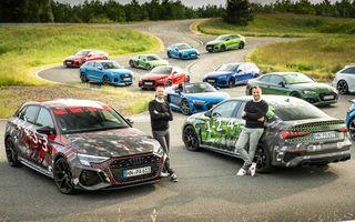 Primele imagini cu noua generație Audi RS3 sub camuflaj