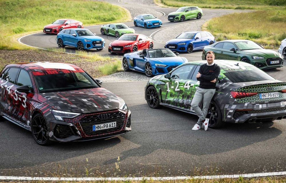 Primele imagini cu noua generație Audi RS3 sub camuflaj - Poza 6