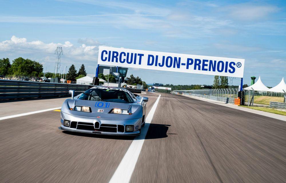 Unicul Bugatti EB 110 Sport Competizione s-a întors pe circuitul pe care a concurat ultima dată, în urmă cu 25 de ani - Poza 2