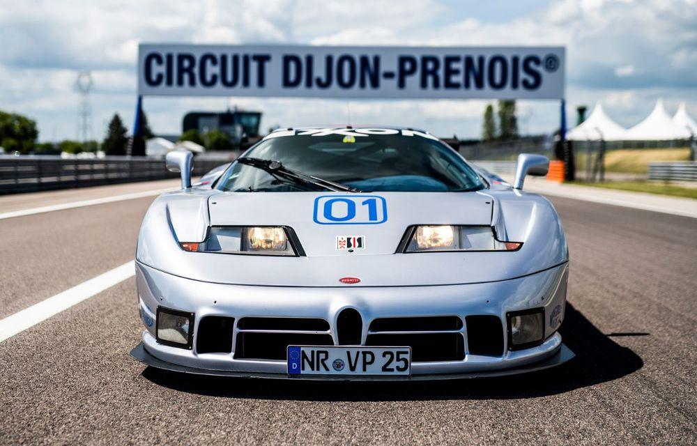 Unicul Bugatti EB 110 Sport Competizione s-a întors pe circuitul pe care a concurat ultima dată, în urmă cu 25 de ani - Poza 4