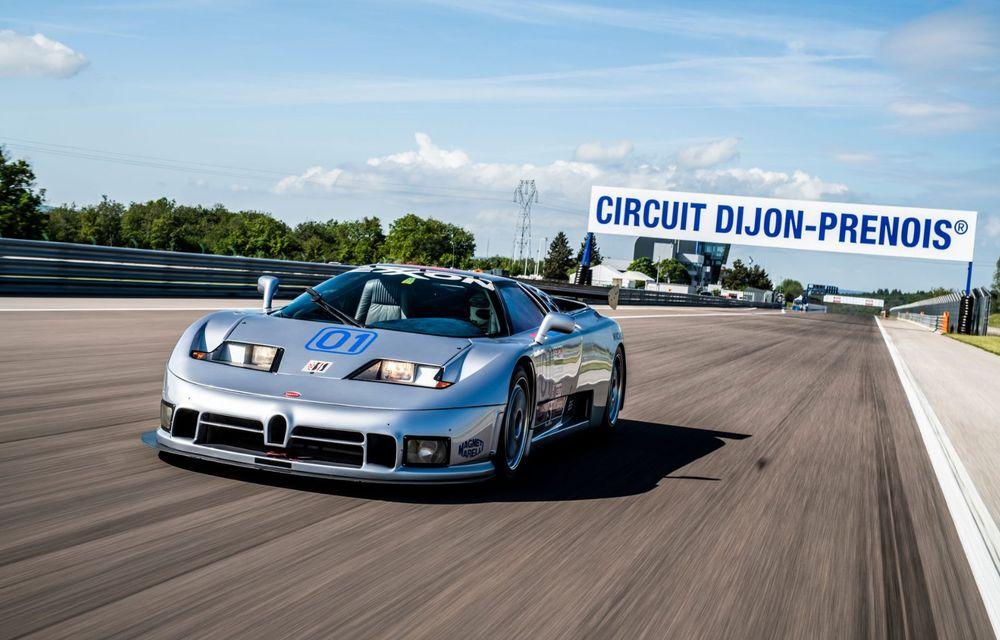 Unicul Bugatti EB 110 Sport Competizione s-a întors pe circuitul pe care a concurat ultima dată, în urmă cu 25 de ani - Poza 1