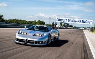Unicul Bugatti EB 110 Sport Competizione s-a întors pe circuitul pe care a concurat ultima dată, în urmă cu 25 de ani