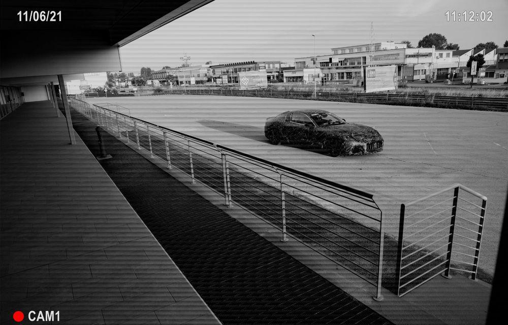 Maserati dezvăluie primele imagini sub camuflaj cu viitorul GranTurismo 100% electric - Poza 2