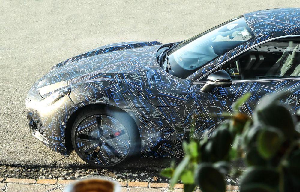 Maserati dezvăluie primele imagini sub camuflaj cu viitorul GranTurismo 100% electric - Poza 4