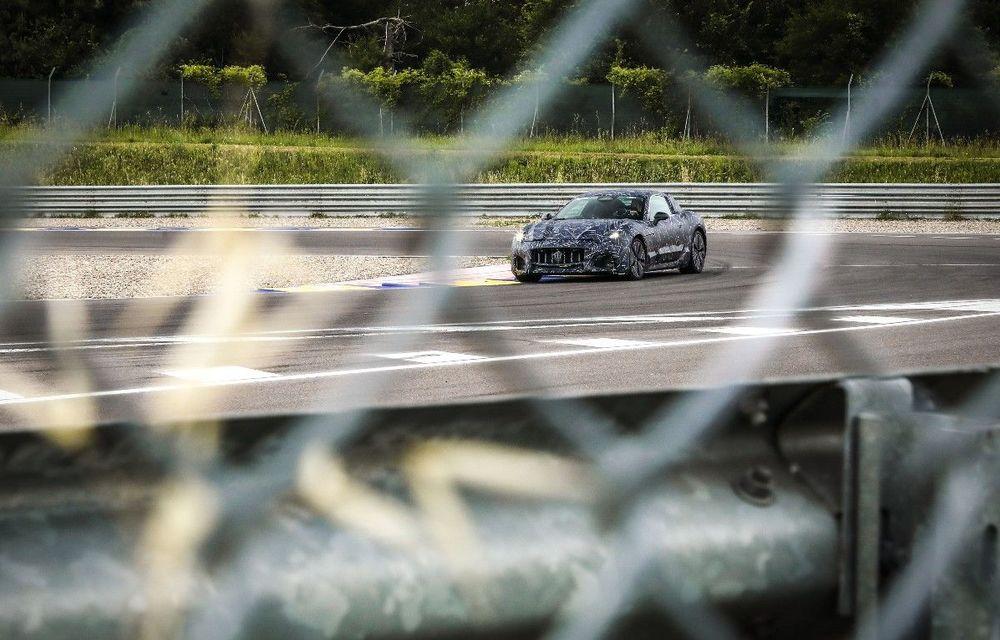 Maserati dezvăluie primele imagini sub camuflaj cu viitorul GranTurismo 100% electric - Poza 1