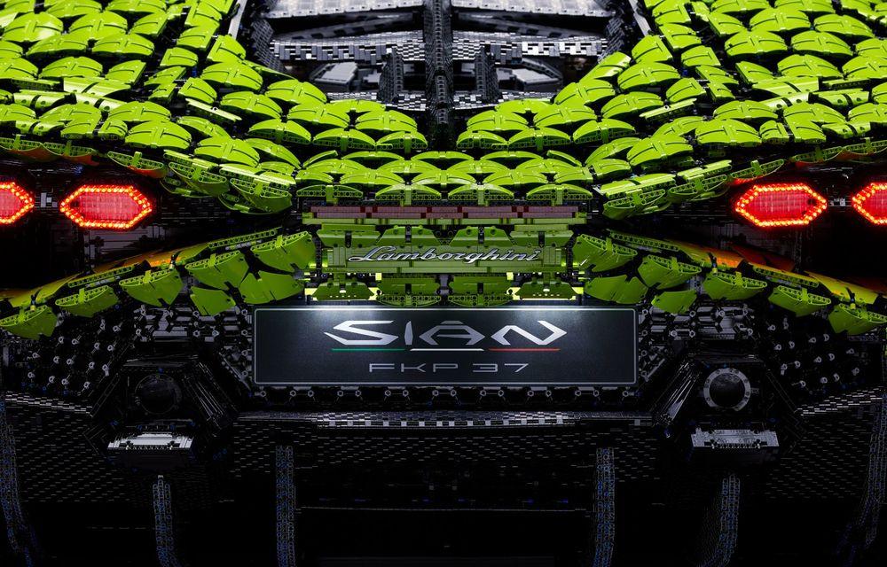 Cea mai nouă machetă Lego este acest Lamborghini Sian în mărime naturală - Poza 10