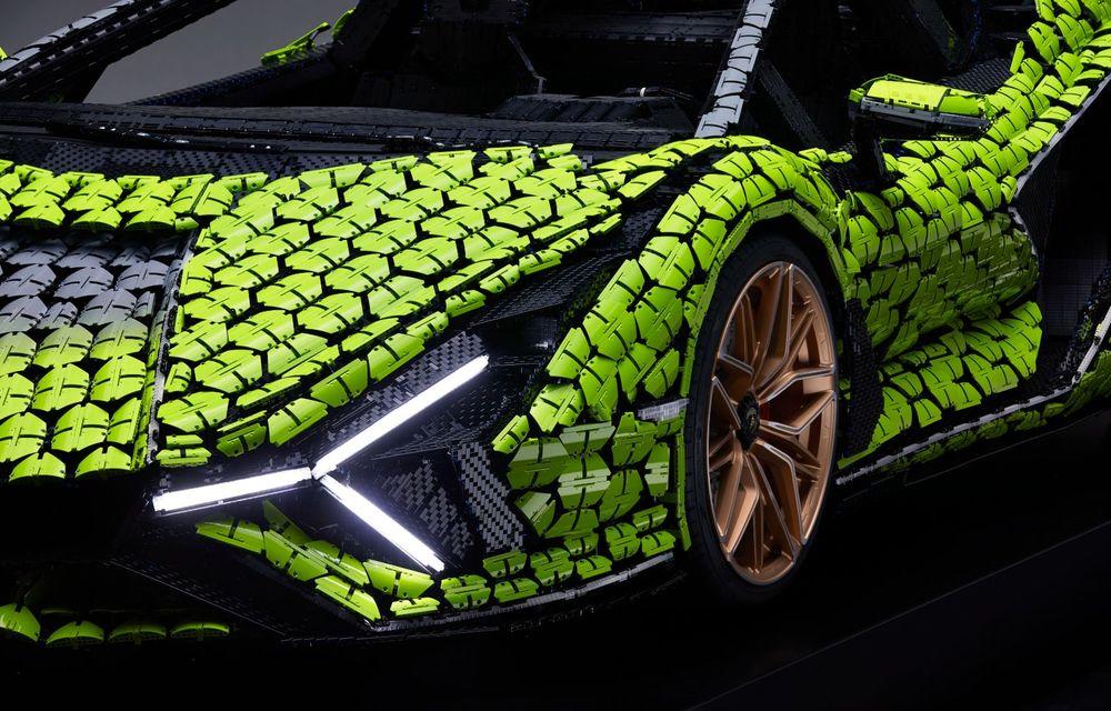Cea mai nouă machetă Lego este acest Lamborghini Sian în mărime naturală - Poza 13