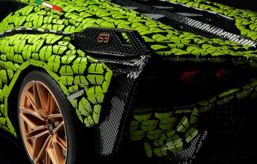 Cea mai nouă machetă Lego este acest Lamborghini Sian în mărime naturală - Poza 14