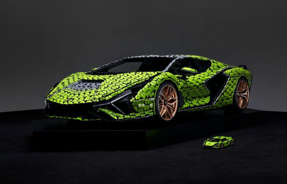 Cea mai nouă machetă Lego este acest Lamborghini Sian în mărime naturală - Poza 4